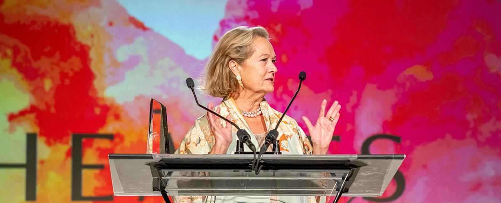 Caroline Hipple accepted the HEARTS Award